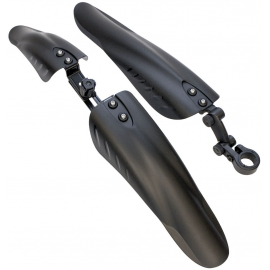 Front Sus/Seatpost Rear Downhill Mudguards Black