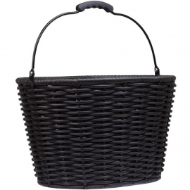 Stockbridge woven plastic wicker basket
