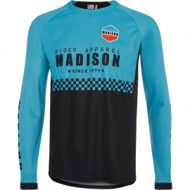 Alpine men's long sleeve jersey  check blue curaco / black XX-large