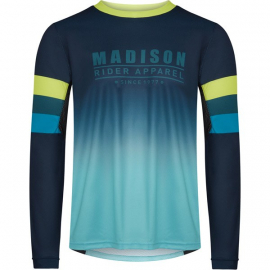 Alpine men's long sleeve jersey  ink navy / lime punch small