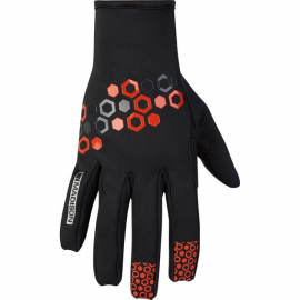 Element men's softshell gloves  hex black / chilli red X-large