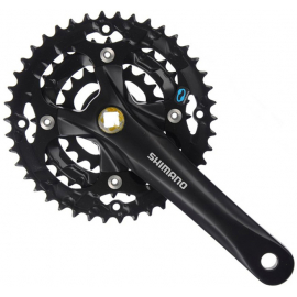 M361 - 28/38/48 - 8 Speed Tapered Chainset in Black