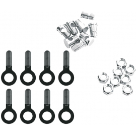 SKS 8X BOLTS NUTS & ENDCAPS FOR CHROMOPLASTICS/LONGBOARD/BLUEMELS: