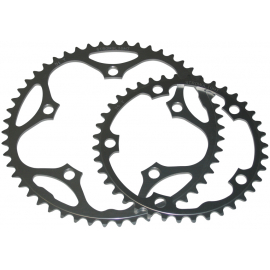 Stronglight 130PCD Type S - 5083 Series Shimano 5-Arm Road Chainrings in Black
